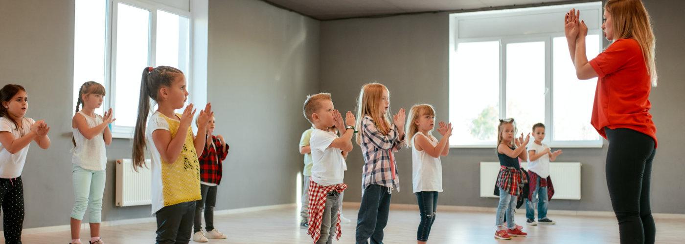 kids having a dance class