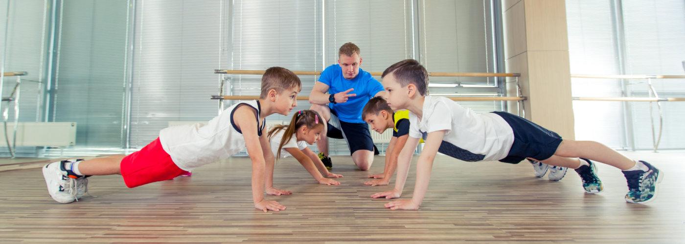 kids having a physical class